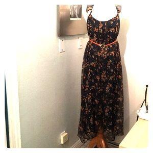 Zara maxi chiffon dress